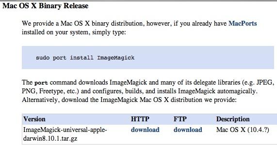 ImageMagick Installation