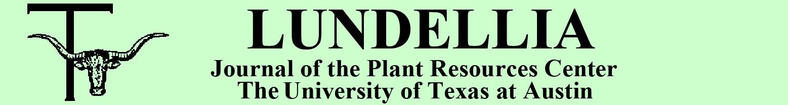 Lundellia - Plant Resources Center, The University of Texas at Austin